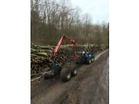 Timber trailer. Forestry trailer