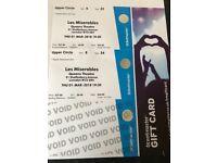Les Misreables Tickets x 2