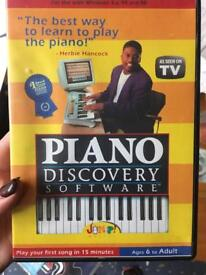 Piano discovery software