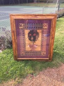 Framed Wall Painting of an Orange Tree Artwork