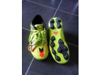Adidas messi boots and f50 shin guards immaculate worn a couple of times