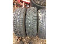 vw golf 195-65-15 tyres x3 for sale or fitted