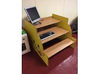 Child wooden computer desk