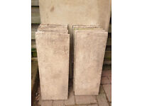 600 x 230 x 33mm Used Concrete Paving Slabs 11 Available 2ft x 9inches