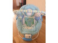 Blue baby bouncy seat