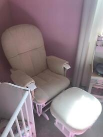 Rocking nursing chair and footstool **immaculate**