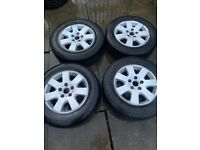 Van alloy wheels with commercial tyres