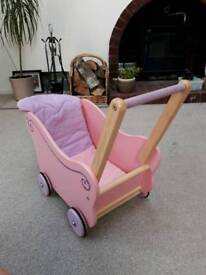 Children's wooden pram