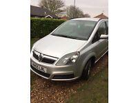 Vauxhall zafira silver FAMILY CAR