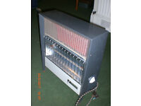 Electric fire/convector heater