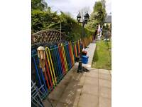 Coloured Bow Fencing With Gate very good quality fencing