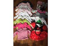 6-12 months baby girl clothes, HUGE bundle + sleeping bag + winter jacket