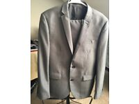 Grey Tailoring next Men slim fit 2 piece suit