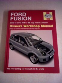 Unused Haynes Manual for Ford Fusion 2002 -2012 Petrol & Diesel