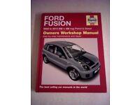 Unused Haynes Manual for Ford Fusion 2002 -2012 Petrol & Diesel