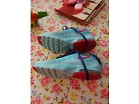 Nike blue and red trainers size 5uk