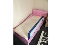 Princess castle toddler bed with mattress and bed guard