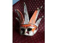 Venetian Jester Masquerade Mask. Hand made