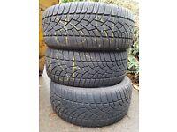 3x Dunlop SP Winter Sport 3D tyres 225/45R17