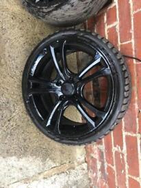 4 stud 17 inch allow wheels