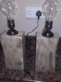 Rustic Handmade Table Lamps
