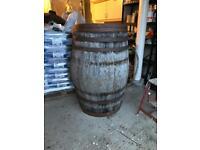 Barrel cask log coal store