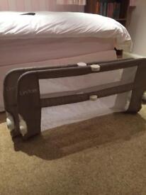 2 Lindam bed rails/guards - grey
