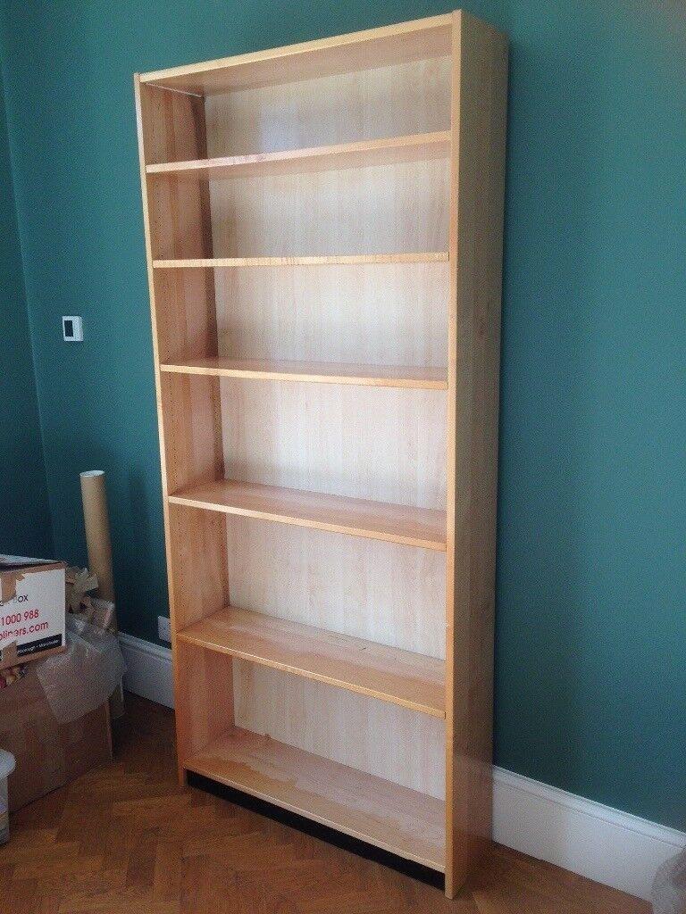 Tall beech bookshelf
