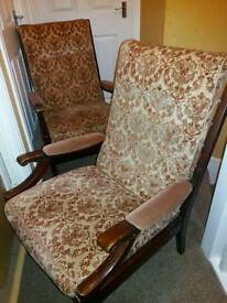2 x vintage armchairs