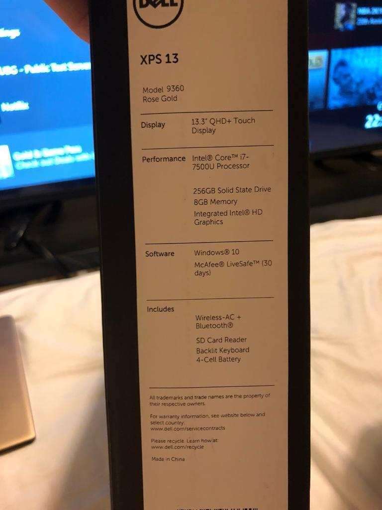 Dell Xps 13, i7, 4K QHD touch  boxed with warranty   in Newcastle, Tyne and  Wear   Gumtree