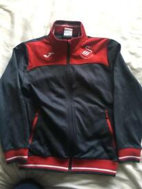 Boys Joma Swansea City tracksuit size 10 (aged 8-10) - grey red excellent conditon (Swans Football)