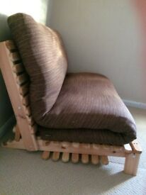2 Seater Solid Pine Double Sofa Bed (Bella) from Futon Company - Excellent Condition