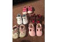 selection of clarks shoes & slippers