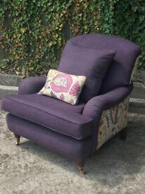 Purple Sofa - Covered in Sanderson fabric
