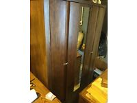solid wood large wardrobe 175 and chest 85