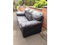 Leather 3 seater settee x2 £90 each