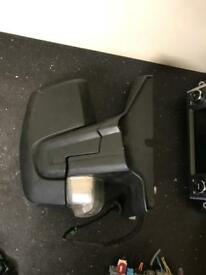 Ford transit custom drivers side wing mirror complete
