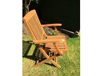 8 teak chairs