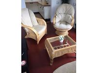 Conservatory furniture- sofa, rocking chair, chair and table excellent conditon for sale