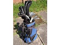 Full Set of Beginner Golf Clubs including bag. Used but good condition.