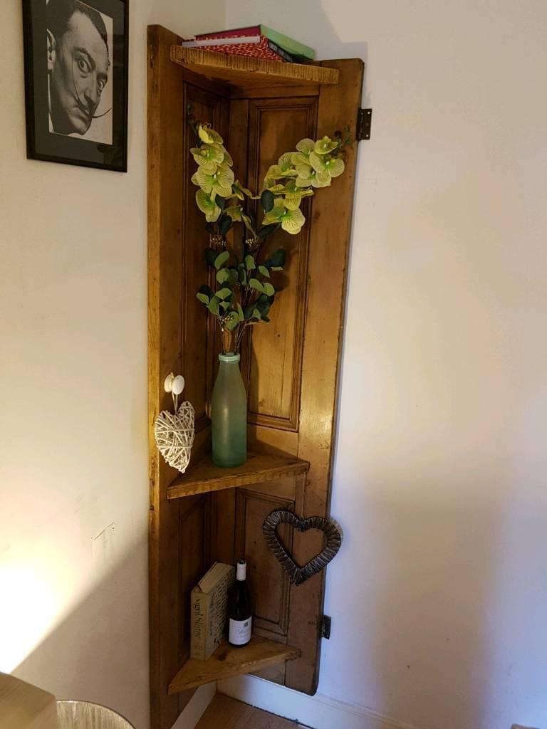 Vintage Victorian door shelves