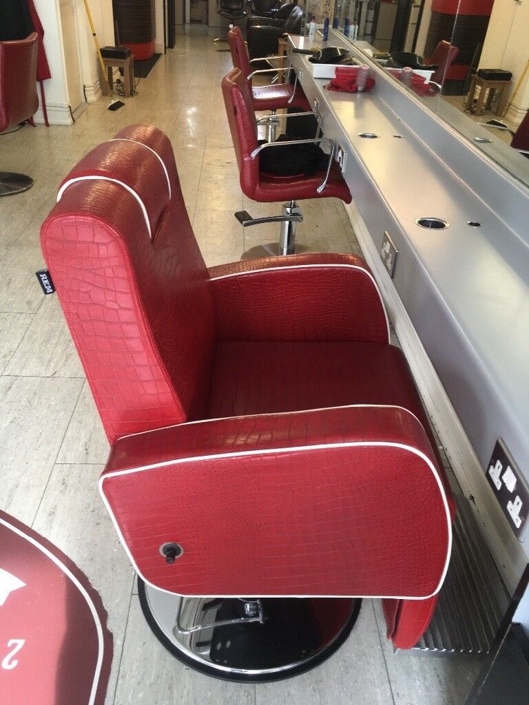 R.E.M Red Barber Chair