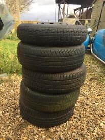 4x98 fiat steel wheels / decent tyres