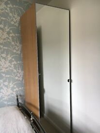 IKEA single pax mirror wardrobe