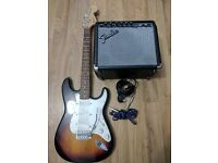 SQUIER by FENDER STRATOCASTER With Fender Amp