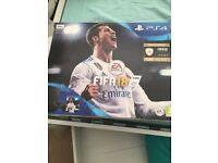 PS4 FIFA 18 edition with FIFA 18, Fallout 4, Dishonoured 2