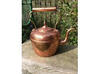 Large old gypsy style copper kettle kitchenalia
