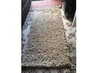 From next fluffy rug beige size 150x80cm used in good condition £10