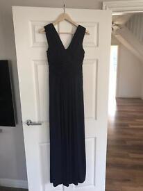 John Lewis Frances Jersey Maxi Dress Midnight size 8