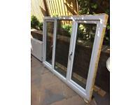 UPVC Double Glazed Window Ideal size Garage Conversion White / Brown Georgian
